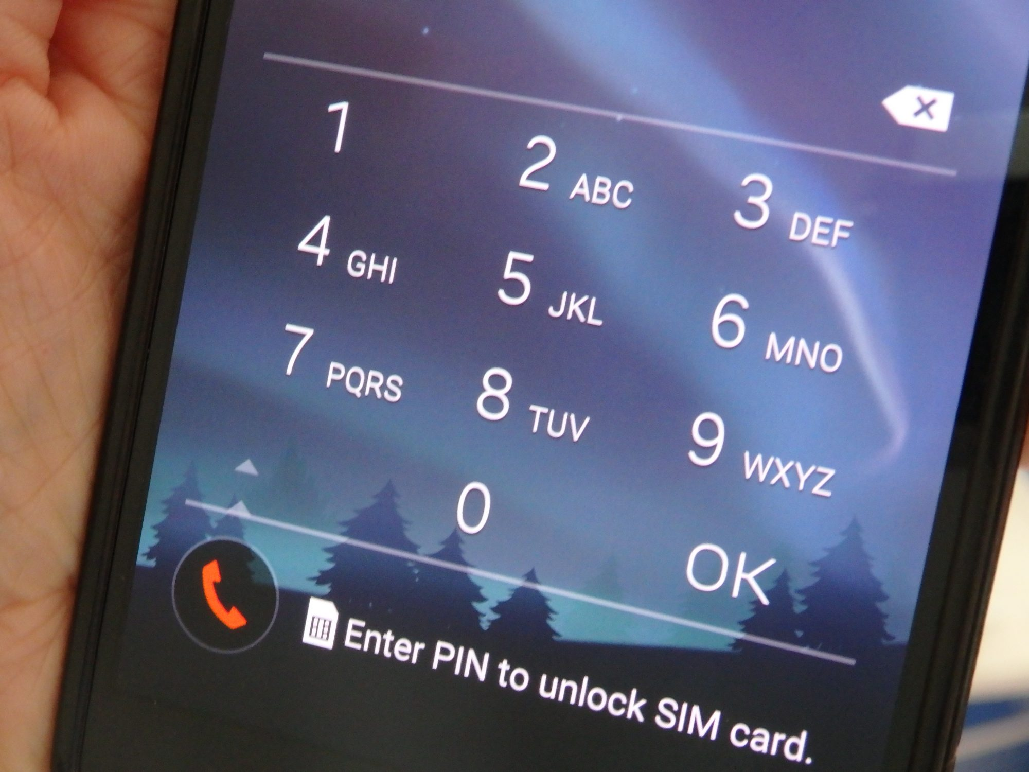 and you have to remember both pin codes when switching between your home sim card and Tellink.