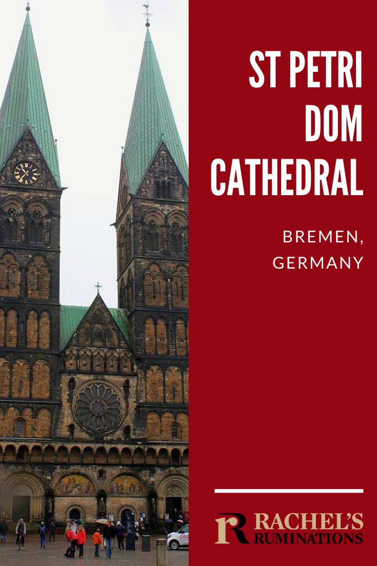In the German city of Bremen, you can't possibly miss seeing St Petri Dom, the huge church whose massive, chunky twin spires dominate the central squares. Read all about it here! #Bremen #Germany #church #travel #Christianity via @rachelsruminations