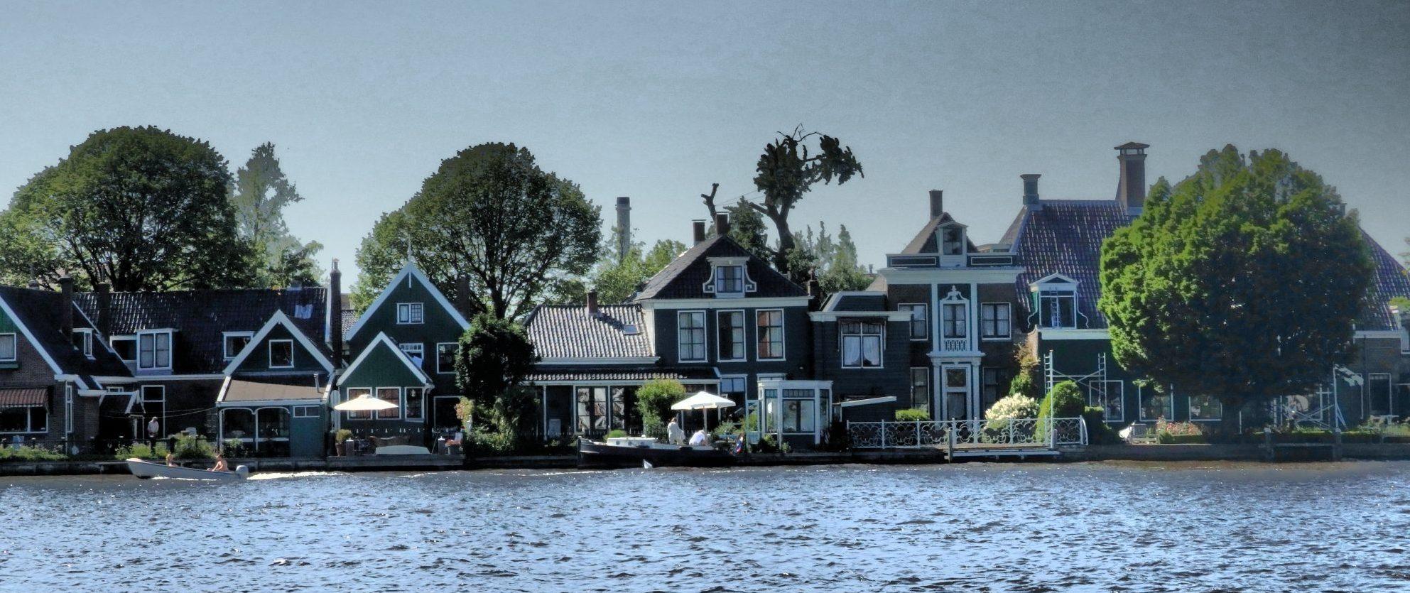 houses across the river from Zaanse Schans