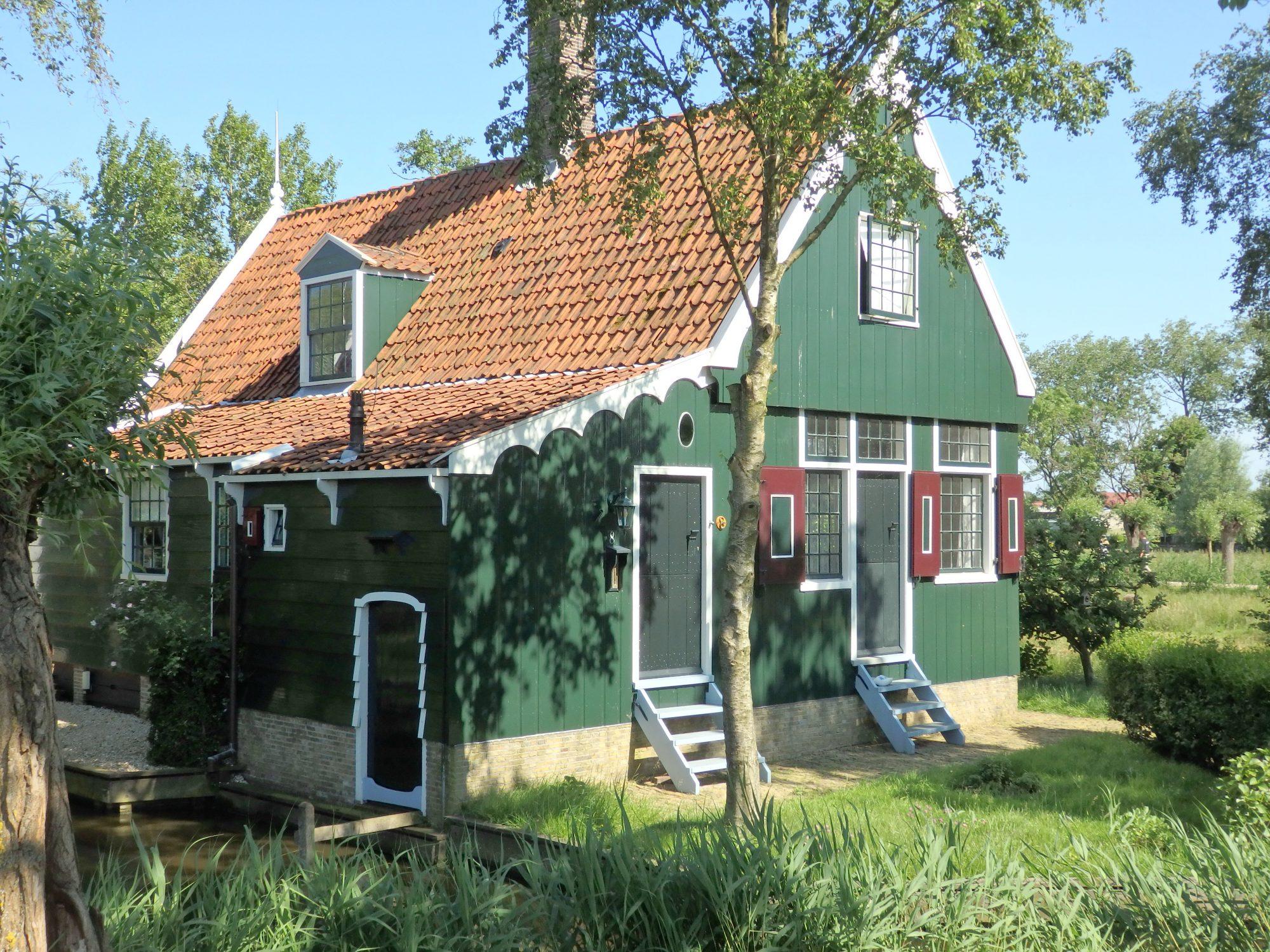 a pretty wooden house at Zaanse Schans