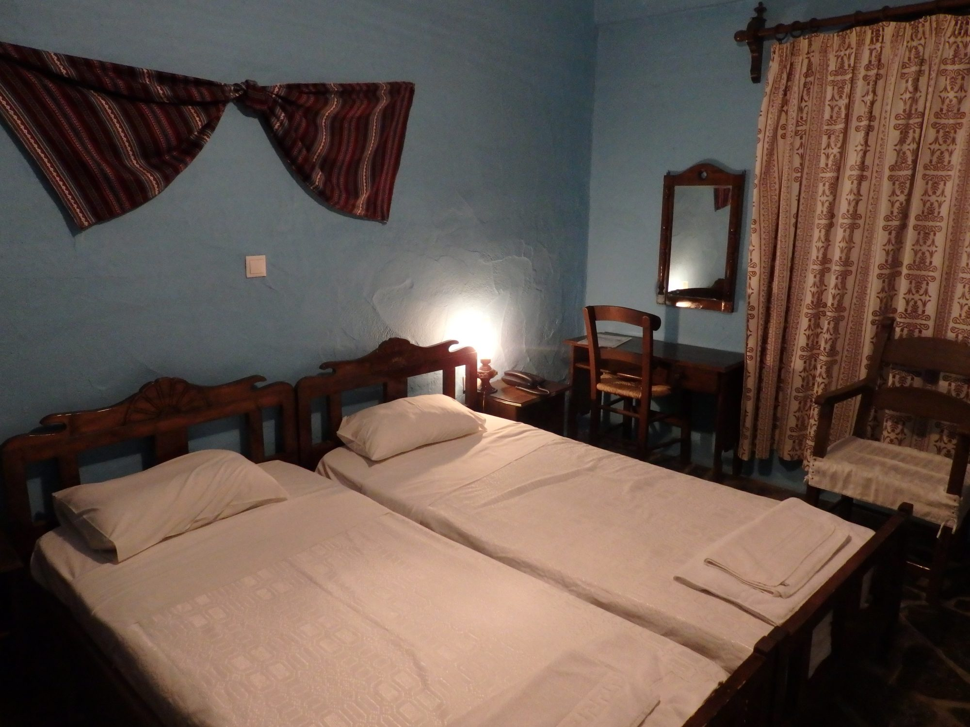 my bedroom at Arolithos Traditional Cretan Village