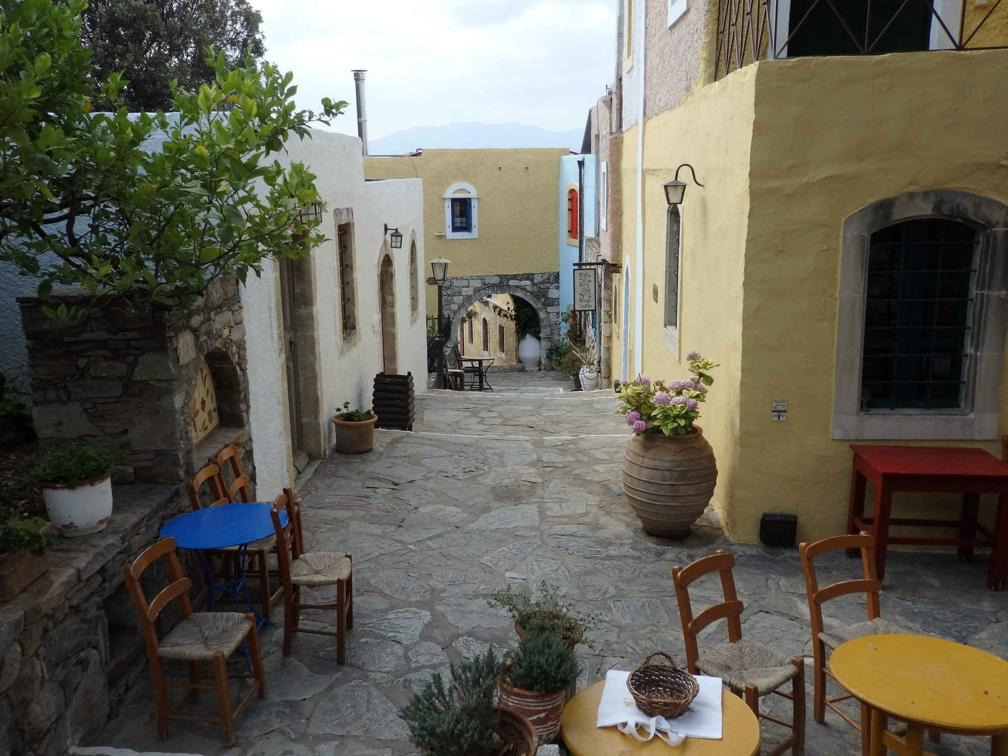 "A ""street"" in Arolithos Traditional Cretan Village"