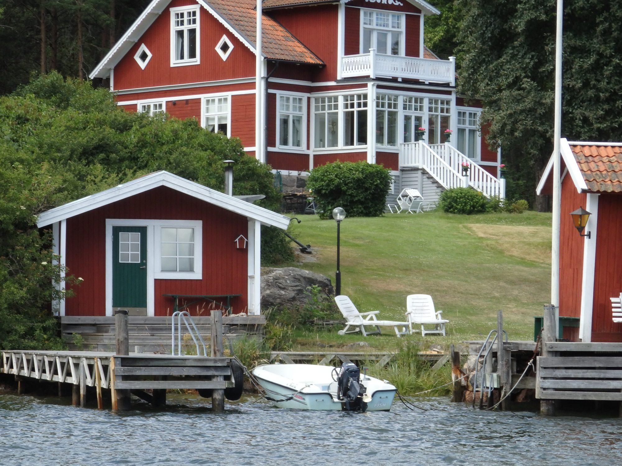 someone's summer house on an island in the Stockholm archipelago in Sweden