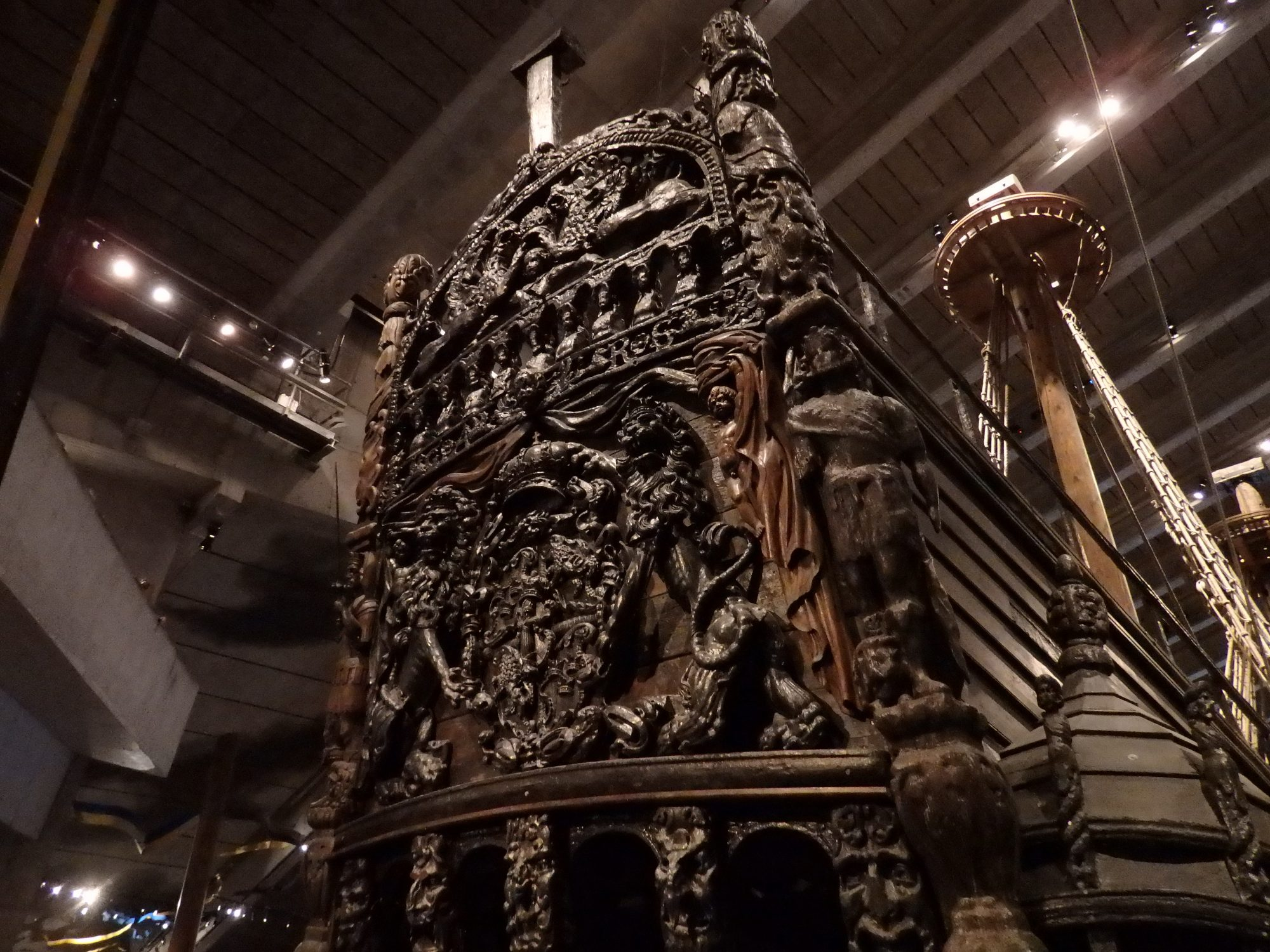 Upper part of the stern of the Vasa: Stockholm, Sweden
