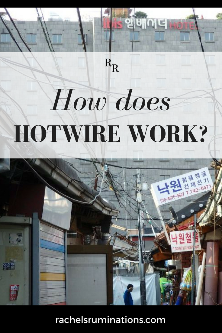 How does Hotwire work? The gimmick is you book at a deeply discounted rate, but you don't know which hotel it is until after you pay. Read my tips here! #hotwire #traveltips #hotelbooking #discountedhotels #bookingengine @rachelruminates via @rachelsruminations