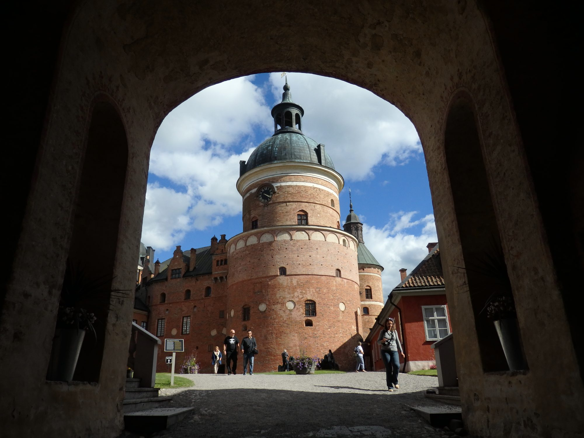 inside the entrance to Gripsholm Castle, Mariefred, Sweden