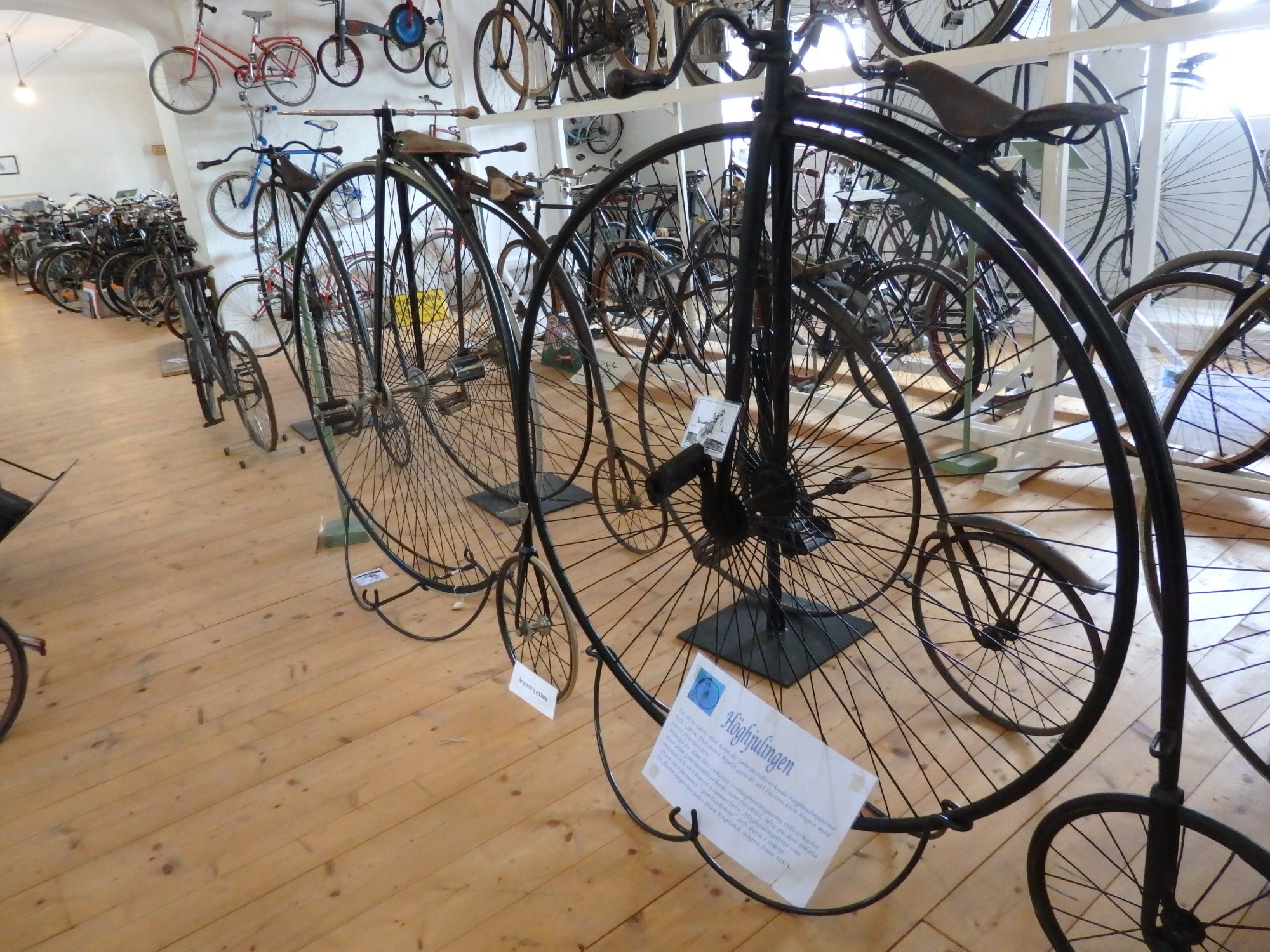 a part of the bicycle collection at Sparreholms manor, Sormland, Sweden