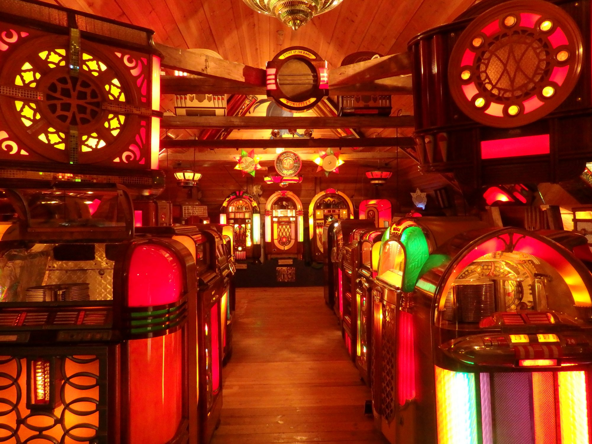 one of several rooms containing what the owners claim to be the biggest jukebox collection in Europe, in Sparreholm manor, Sormland, Sweden
