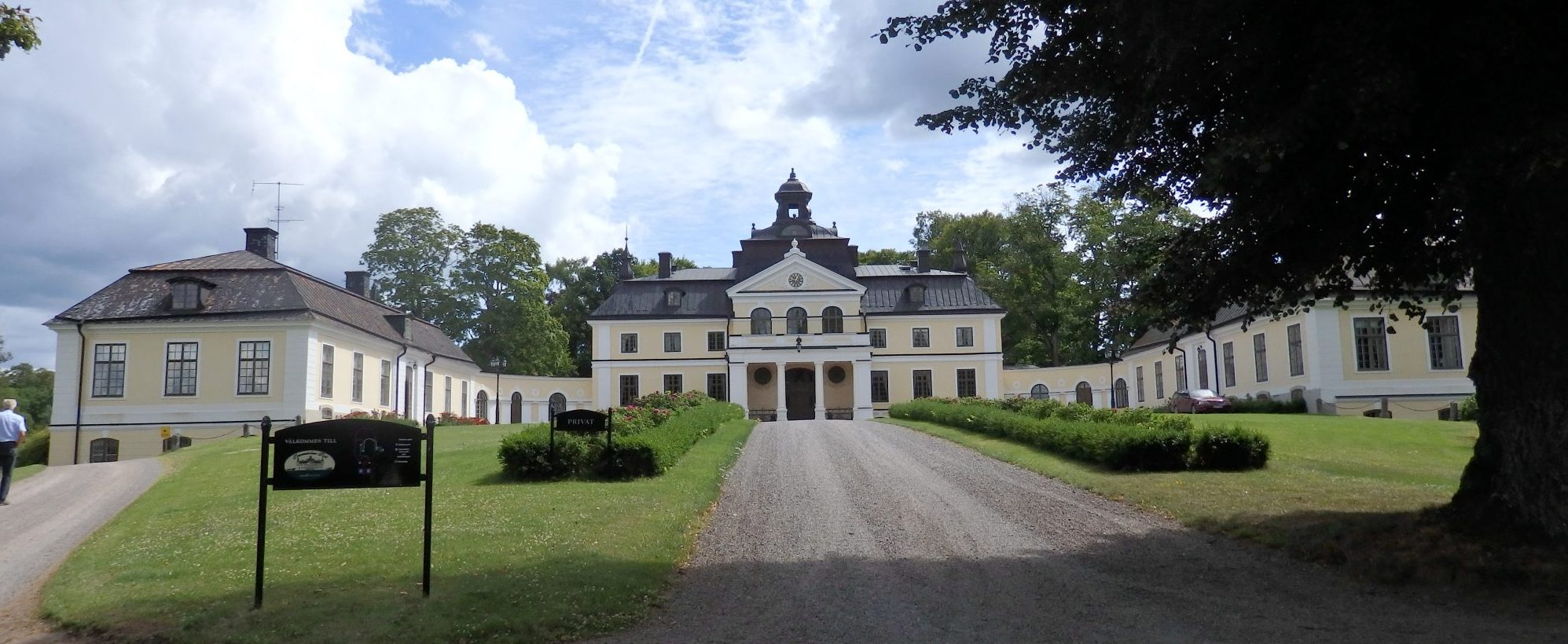 front view of Sparreholms manor, Sormland, Sweden