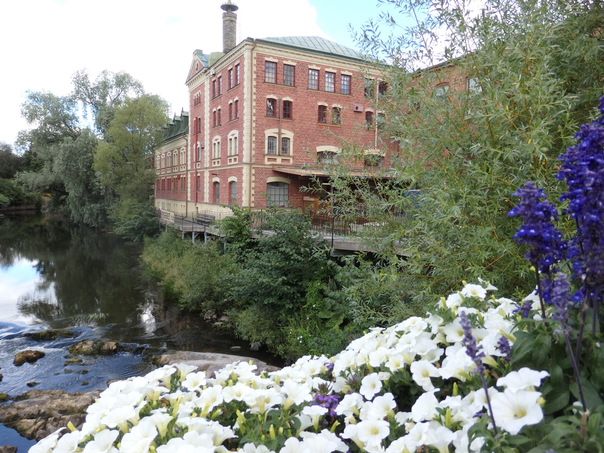 along the river in Nyköping. I think that is a repurposed factory building.