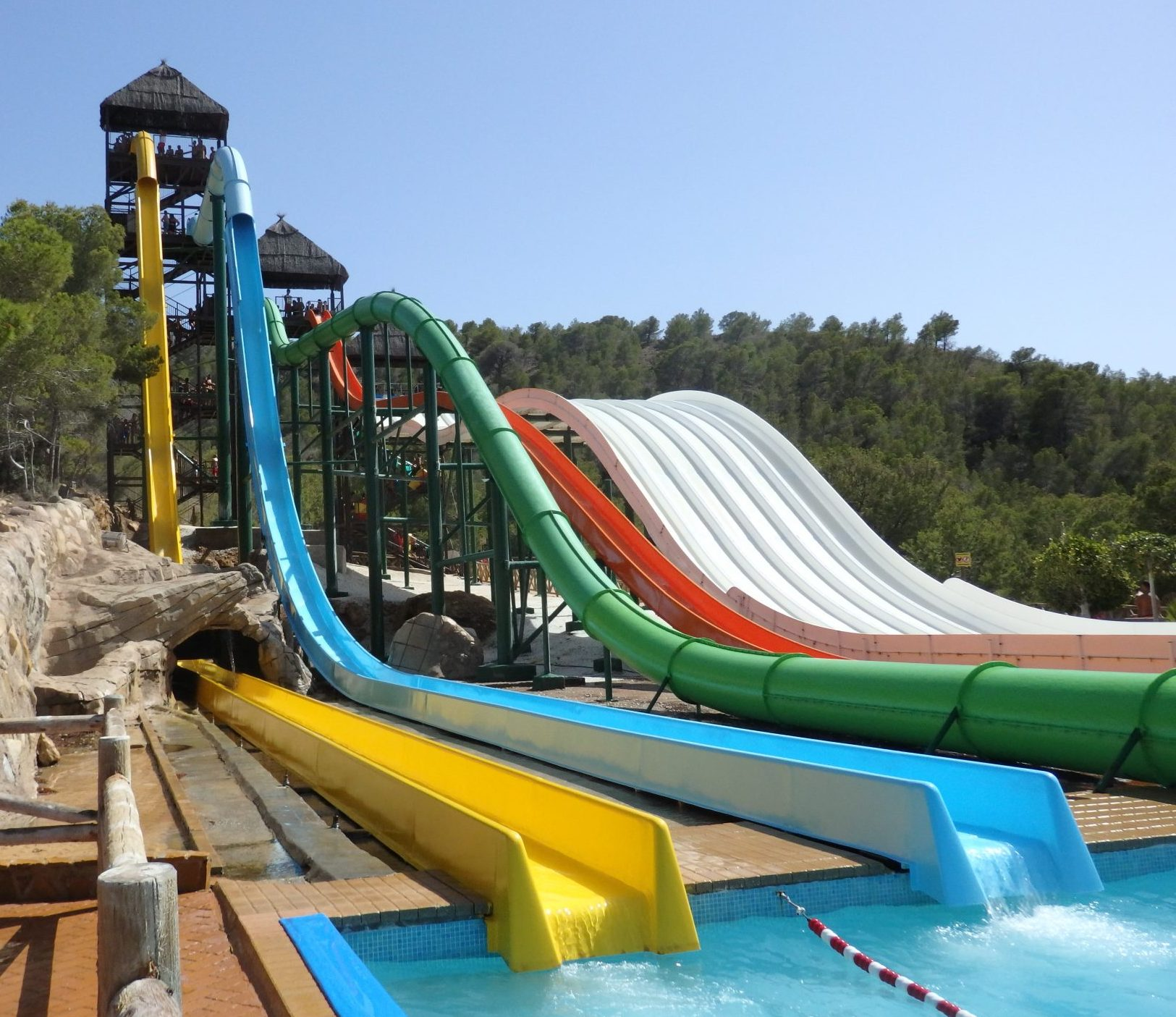 water slides at Aqualandia in Benidorm