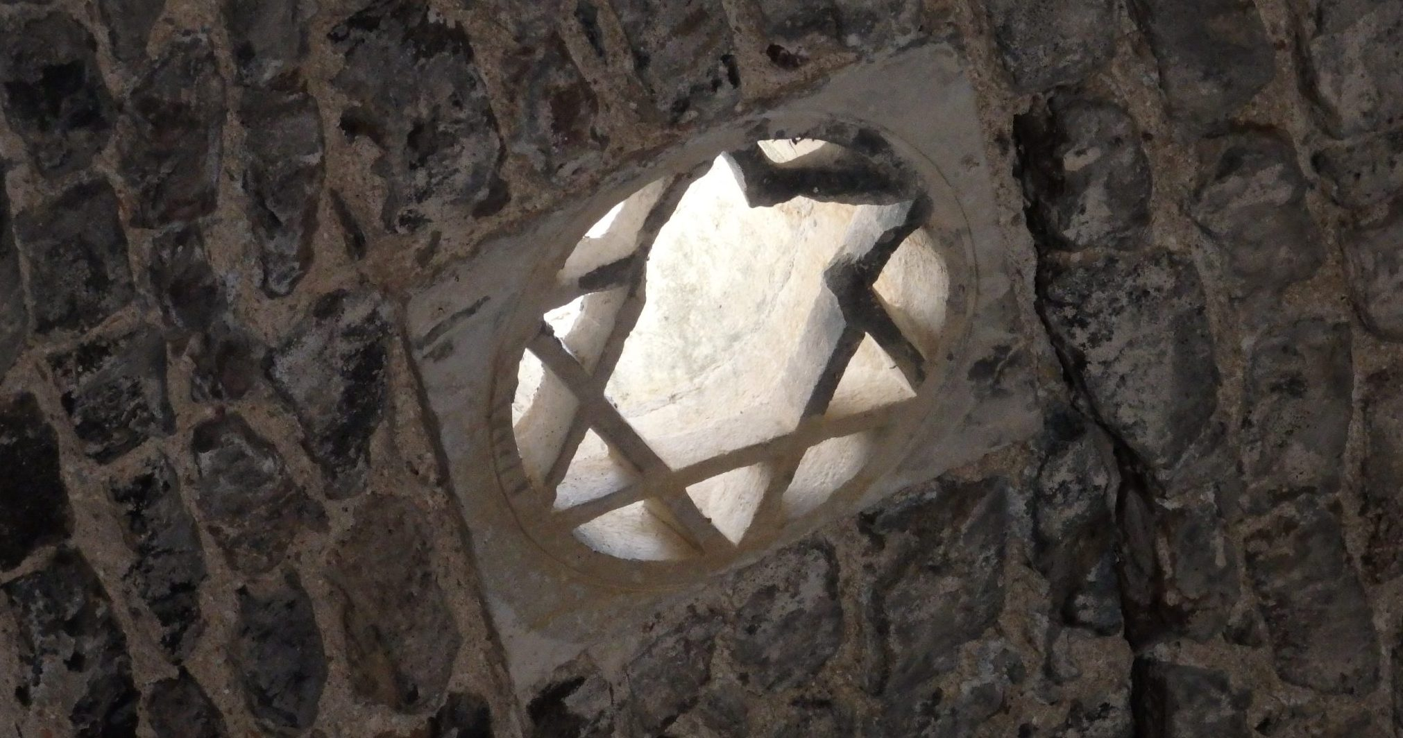 The light in the Arab baths in Girona filters in through small high windows, including this star of David.