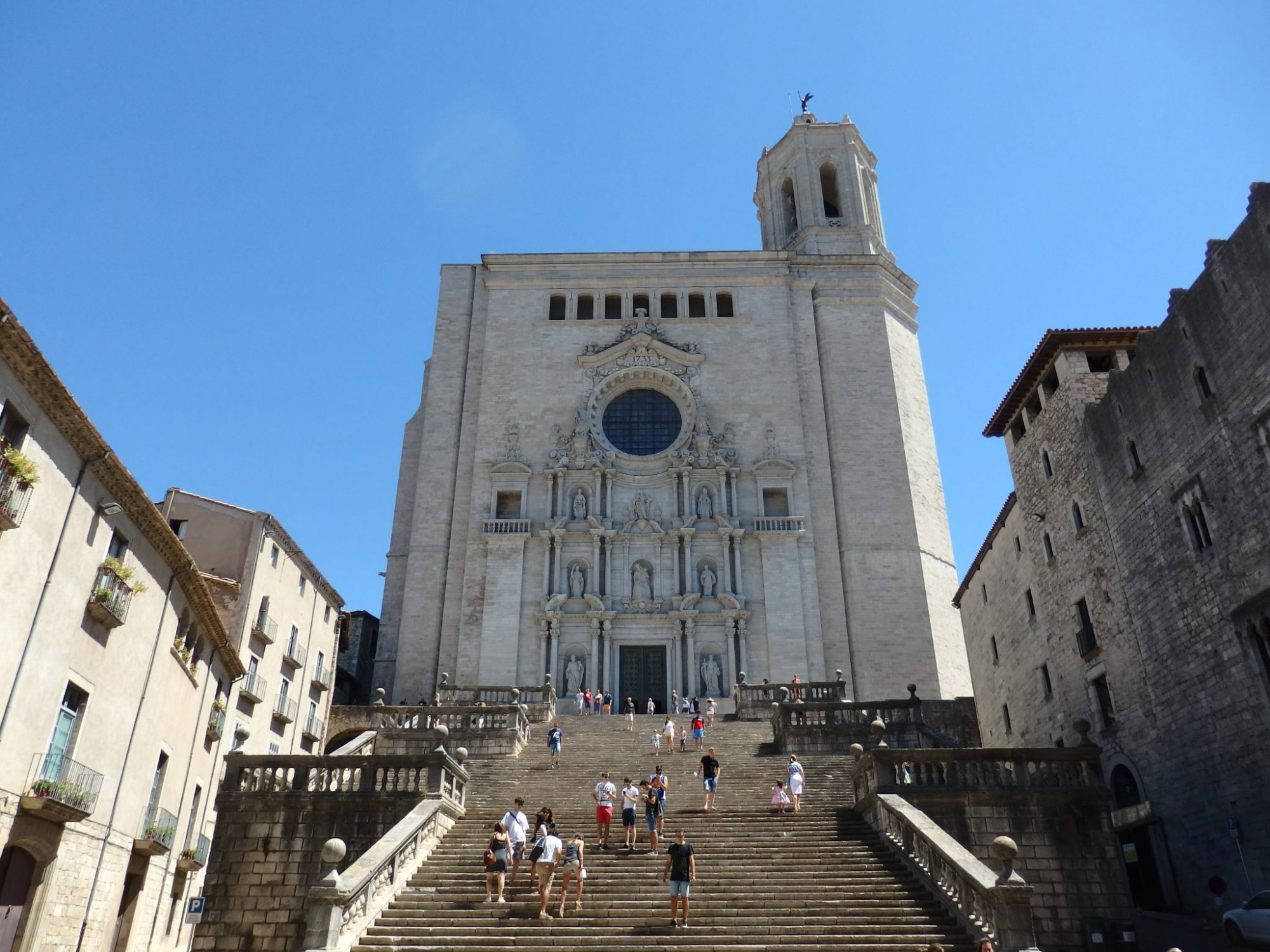 The cathedral, whose full name is the Cathedral of St. Mary of Girona