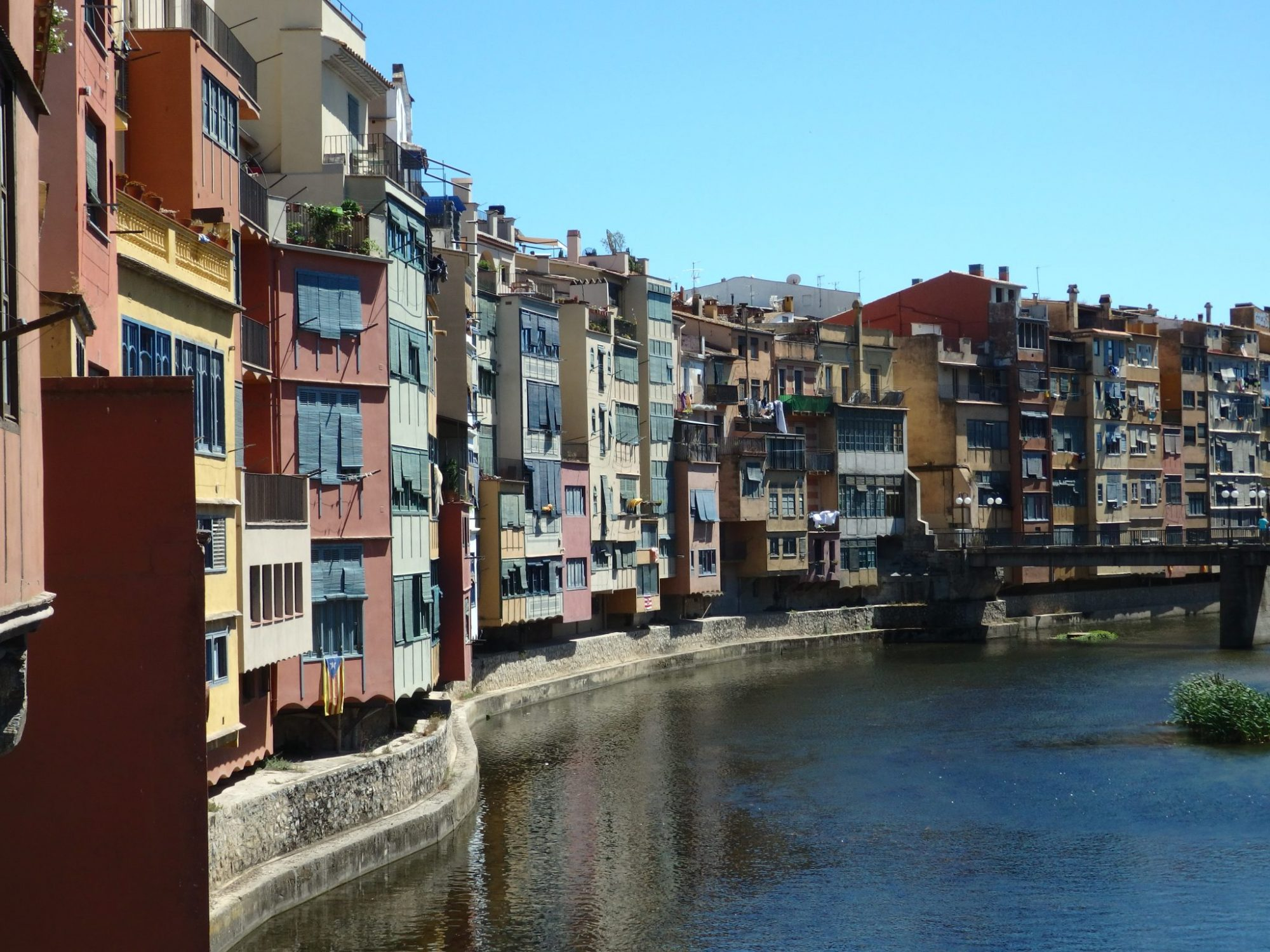 along the river in Girona, Spain