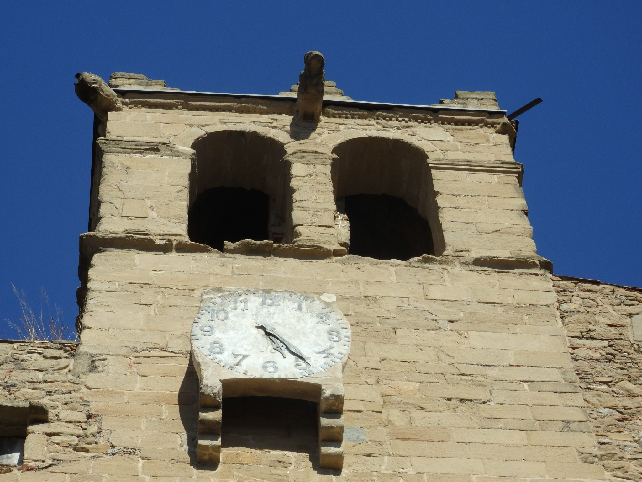 a clocktower in Madremanya, Baix Emporda, Spain