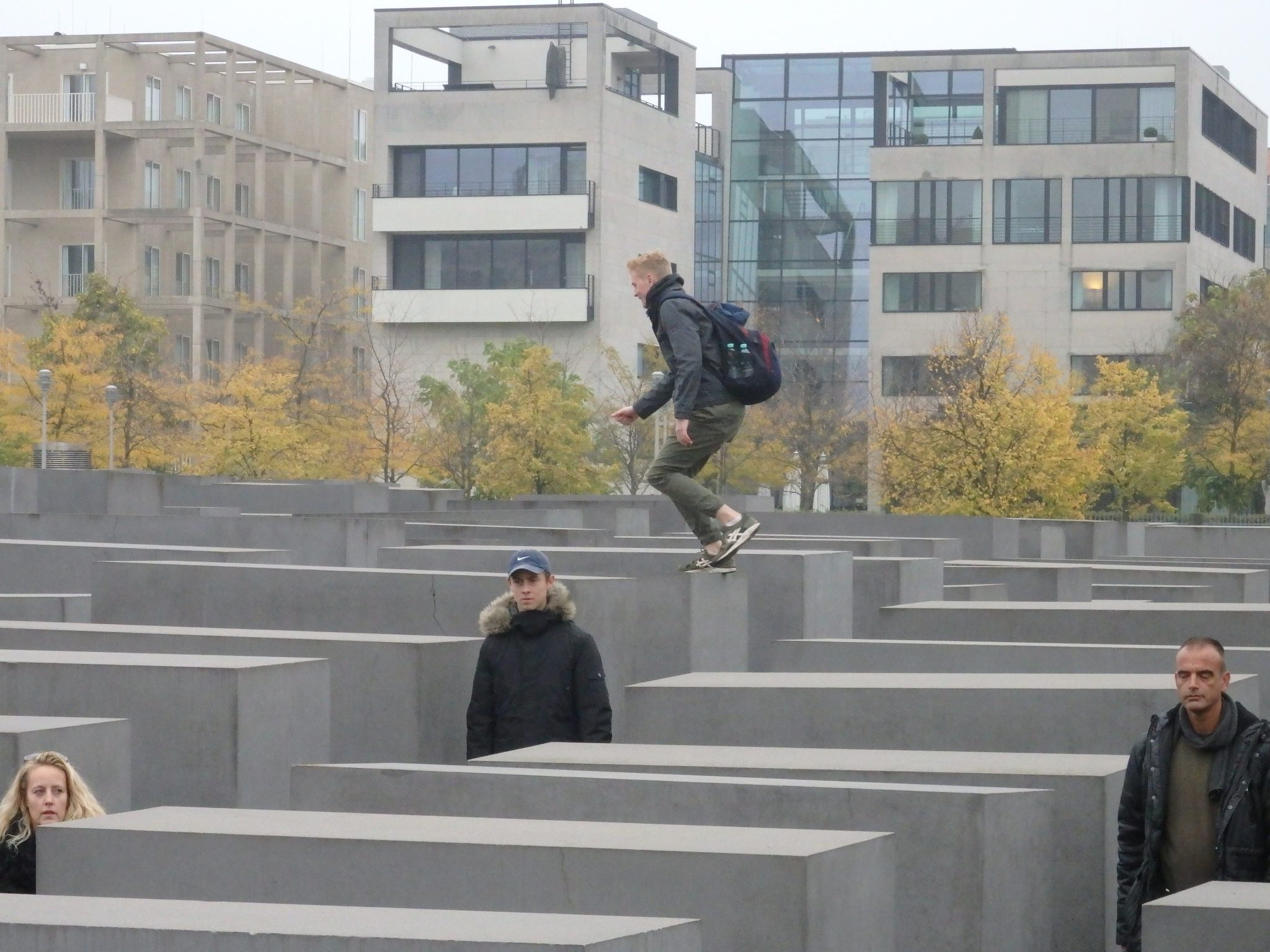 the Memorial to the Murdered Jews of Europe during the day