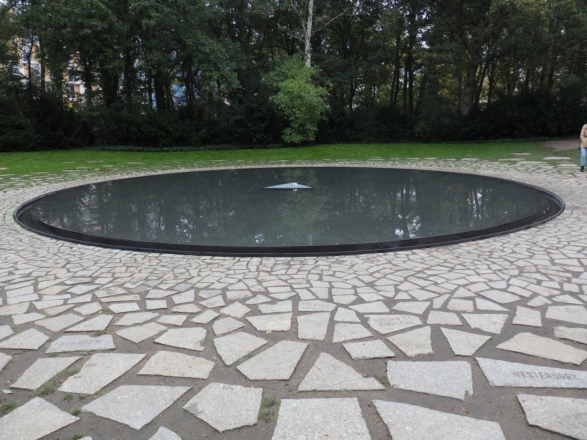 the Memorial to the Sinti and Roma Victims of National Socialism in Berlin