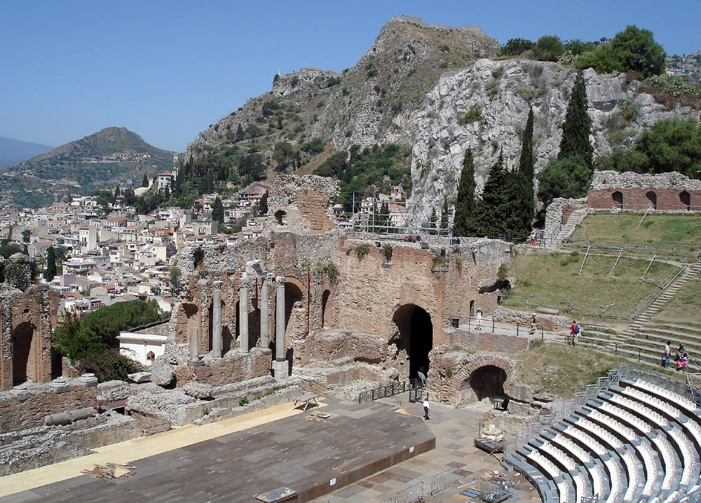 The Graeco-Roman amphitheatre of Taormina in Sicily, Italy. Photo courtesy of Karen Warren.