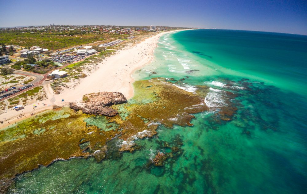 The beach at Perth, Australia. Photo courtesy of La Vida Viva