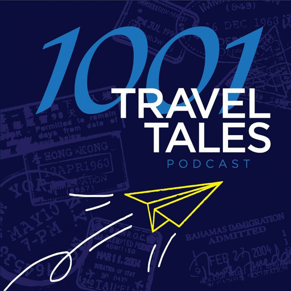 1001 Travel Tales podcast logo