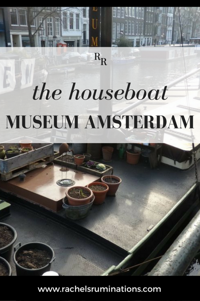 The Houseboat Museum gives a glimpse of life in a houseboat: a very quick glimpse, given how small a vintage houseboat is. #houseboat #museum #amsterdam