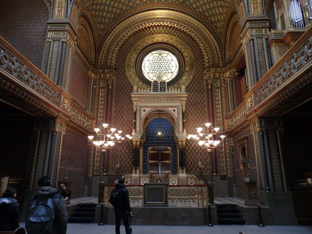 interior of the Spanish synagogue, one of the Prague synagogues