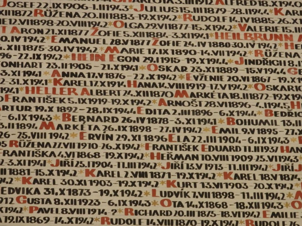Part of a very long list of Hellers on the wall of the Pinkas synagogue in Prague. Were they related? I don't know.