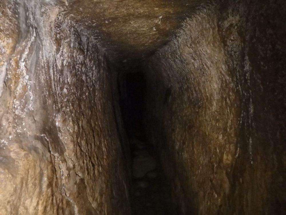 Visiting the City of David: This is the best picture I managed to get inside the tunnel.