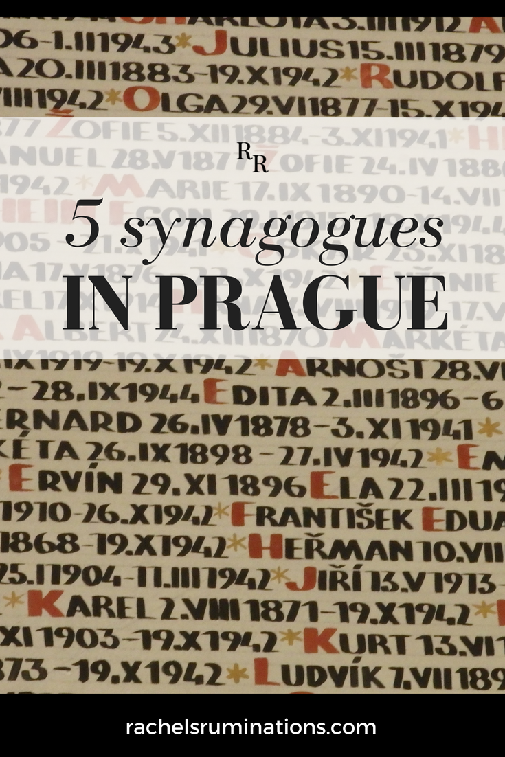 Pinnable image: 5 synagogues in Prague