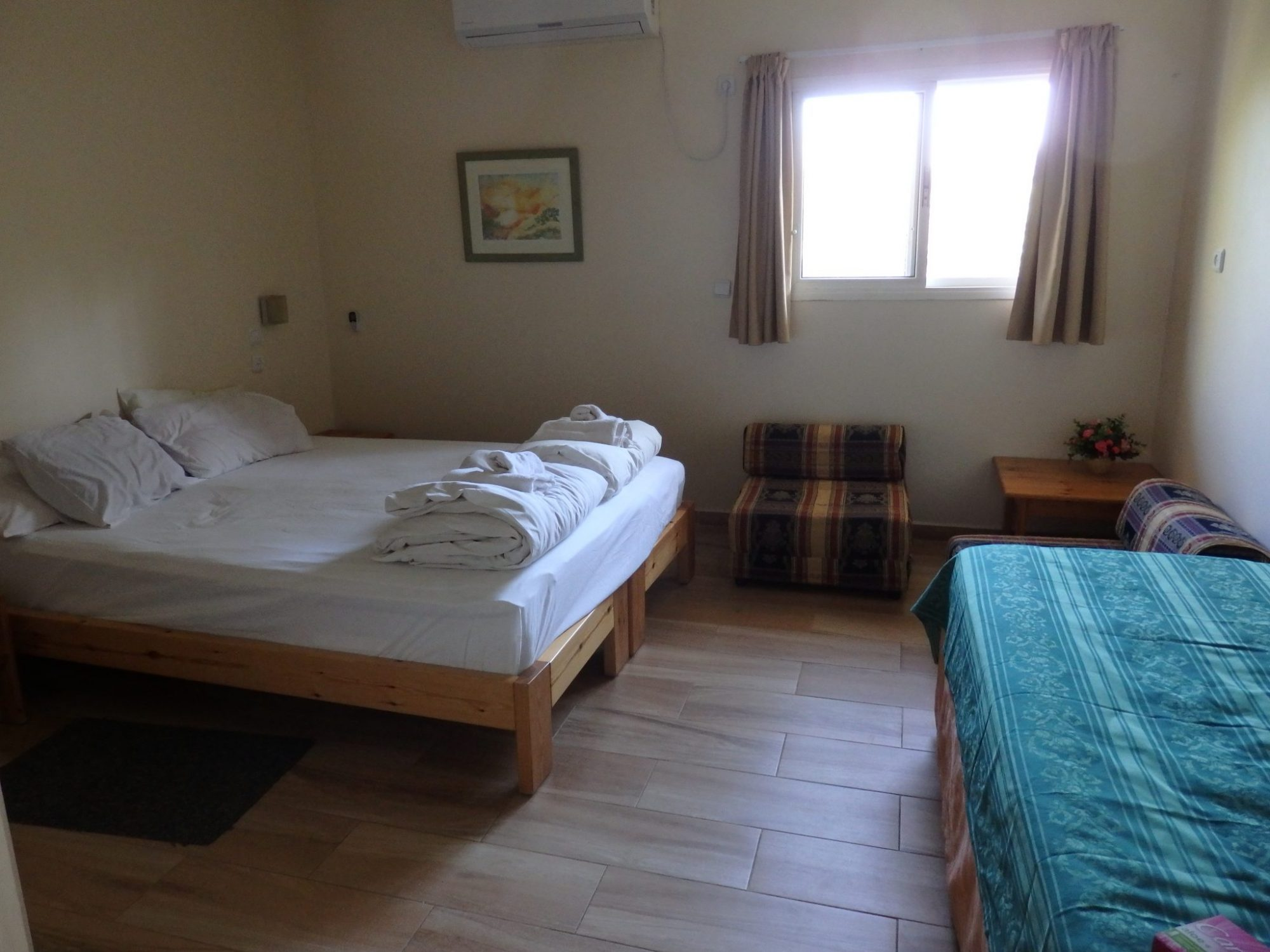 My room at Kibbutz Inbar, one of the ILH hostels in Israel
