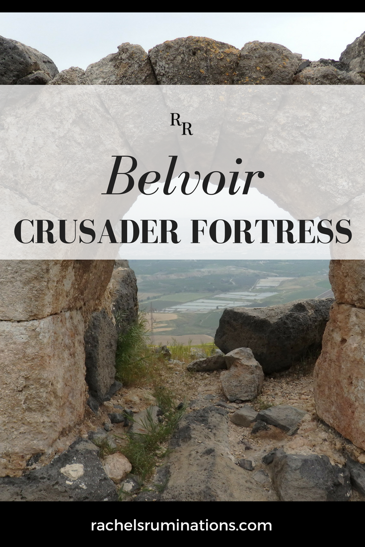 Pinterest-ready image of Belvoir Fortress in northern Israe
