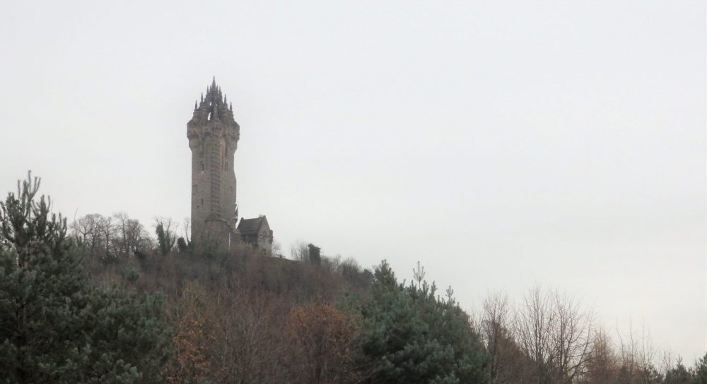 The Wallace memorial as seen from the Stirling University campus