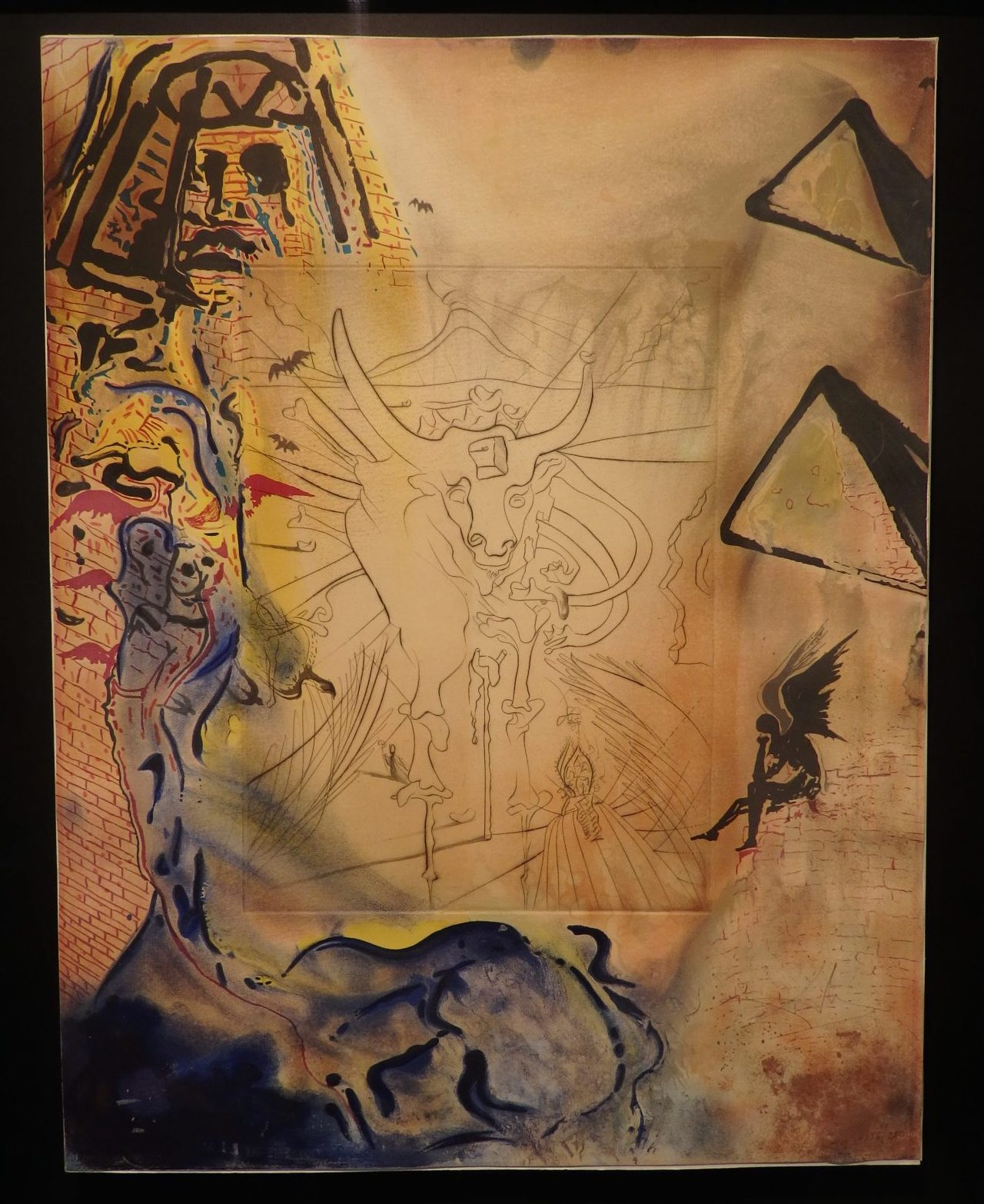 One of a series of lithographs depicting the Exodus story. Salvador Dali at the Moco Museum in Amsterdam.