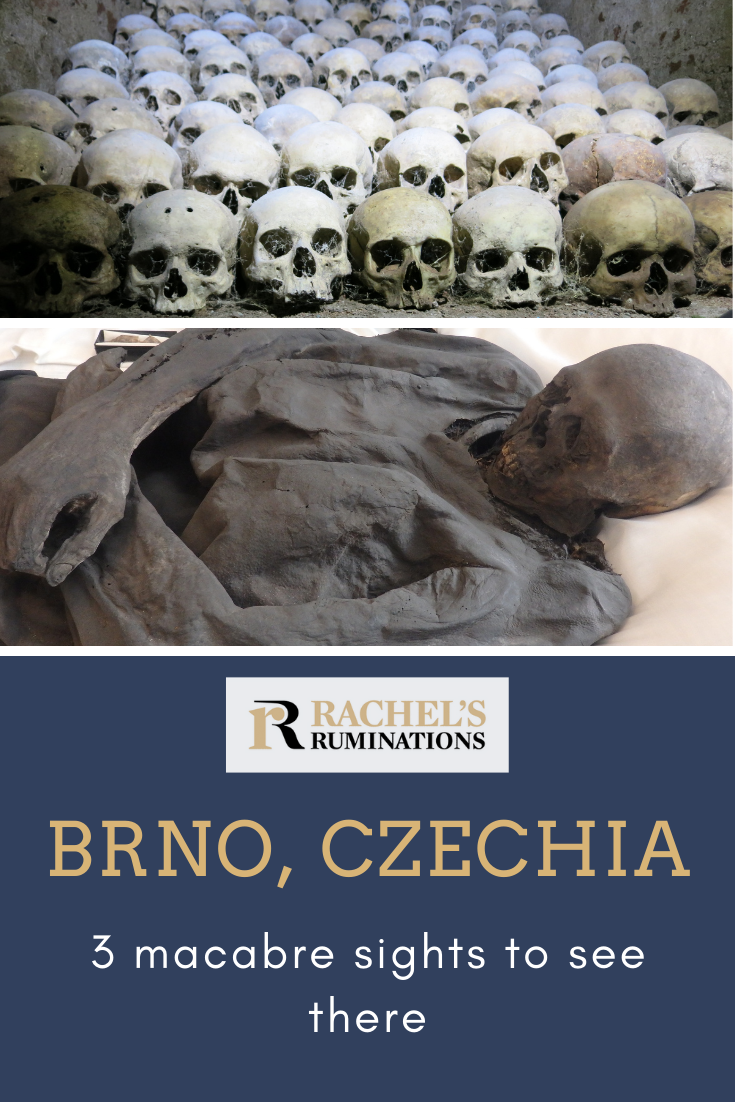 What to see in Brno? An ossuary, a crypt full of mummies, and a nuclear bomb shelter. Somehow my day sightseeing in Brno turned out distinctly macabre. #brno #czechia #czechrepublic #ossuary #bombshelter #mummies via @rachelsruminations