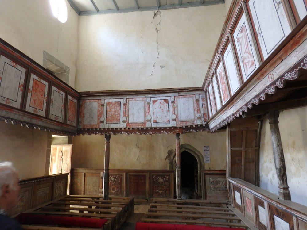 Inside Viscri fortified church