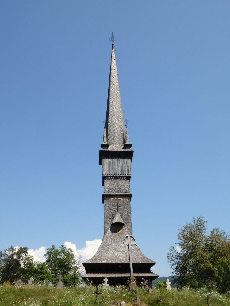 The church at Surdesti: Wooden Churches of Maramures, Romania
