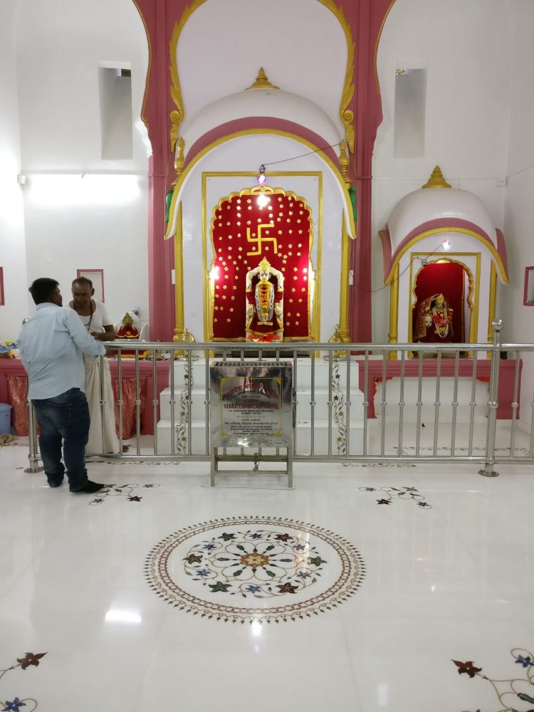 The inner room of the temple. Mumbai sightseeing.