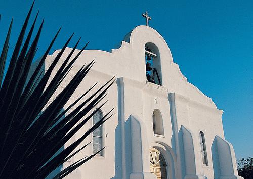 Another elegant mission building at San Elizario. Image viaFlickrby VisitElPaso