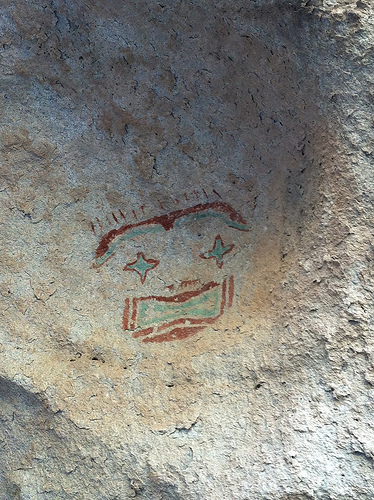 Apparently there are about 200 mask images in Hueco Tanks State Park. Image viaFlickrby VisitElPaso