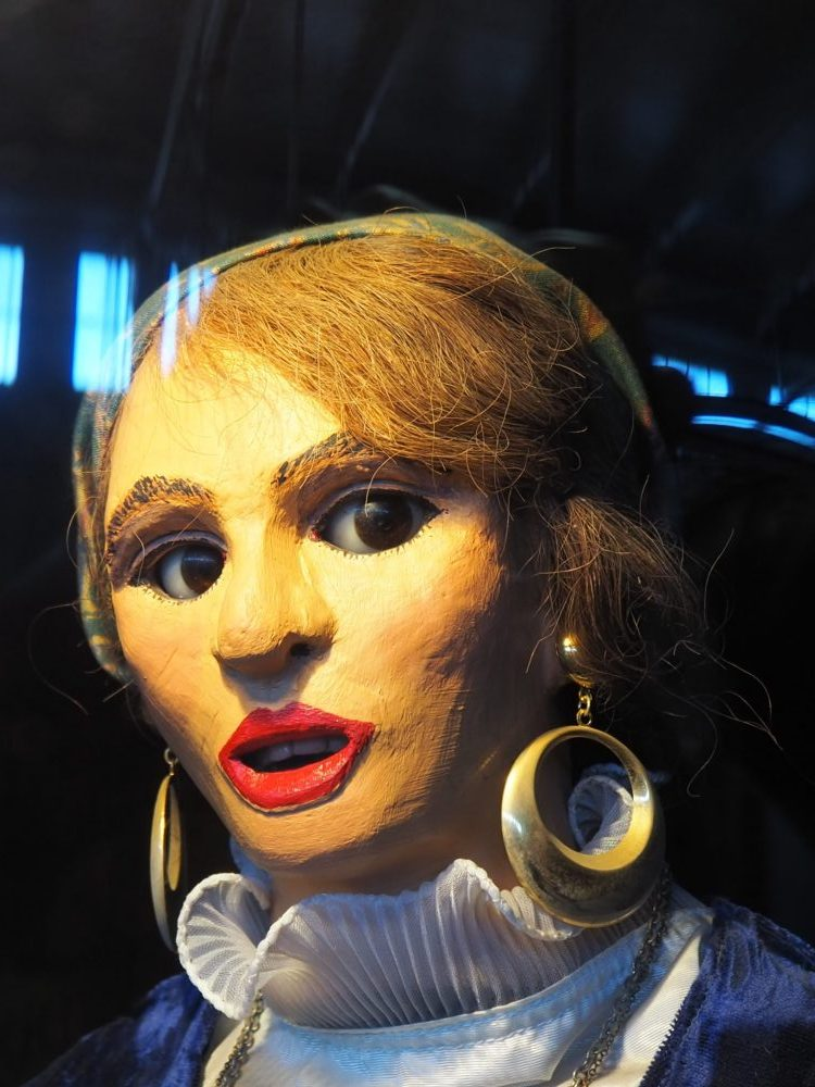 """""""Gypsy Queen"""" at the Musee Mecanique penny arcade"""