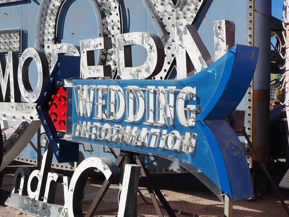 Layers of junkyard signage at Neon Museum Las Vegas
