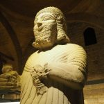 statue of King Mutallu, Assyrian, 1200-700 BCE, in the Museum of Anatolian Civilization in Ankara, Turkey.