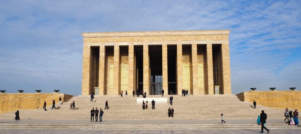 Anitkabir, the mausoleum of Ataturk in Ankara, Turkey