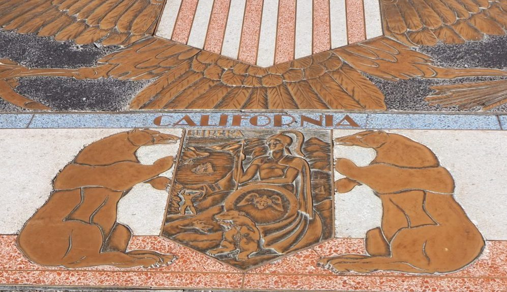 The California seal inlay at Hoover Dam