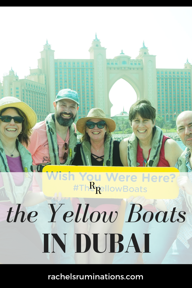 The Yellow Boats leave from a dock in the Dubai Marina and promise views from the sea of a variety of Dubai landmarks: read my review of Yellow Boat Dubai.  #theyellowboats #dubai #uae #c2cgroup via @rachelsruminations