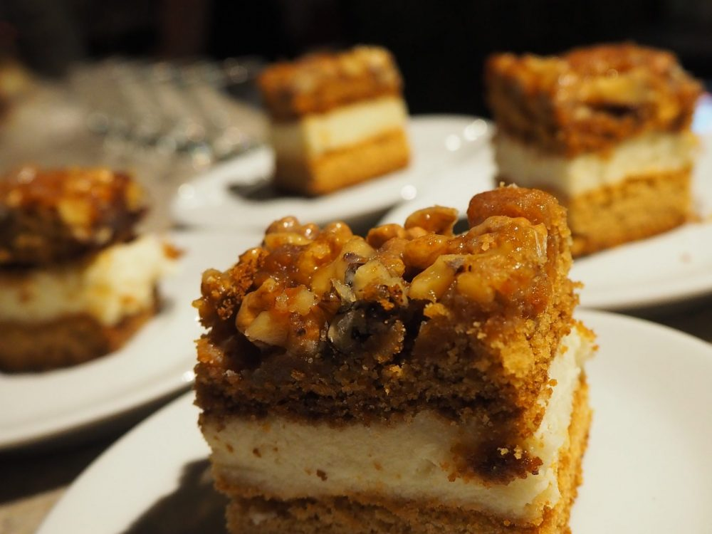 orzechowiec: a nut cake we had for dessert on our Urban Adventures Krakow food tour