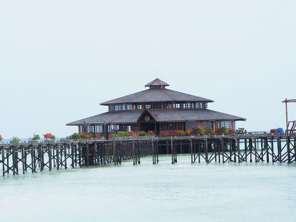 Lankayan Island Resort's main building