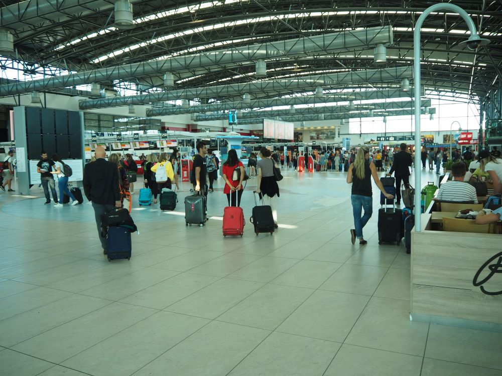 Prague Airport inside Terminal 2: a new terminal where we started our Prague Airport tour