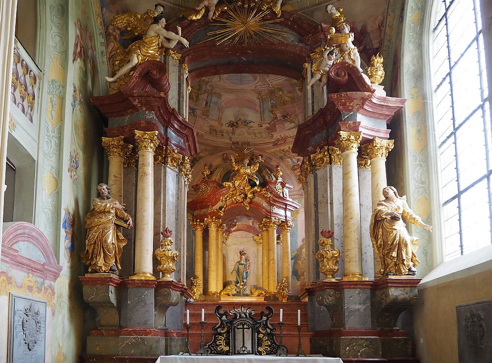 a Baroque altarpiece in the Cathedral of the Assumption of Our Lady in Kutna Hora