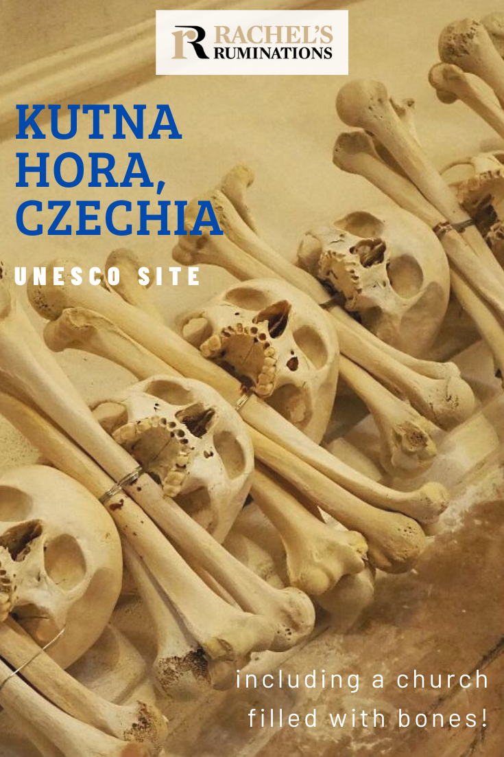 Kutna Hora UNESCO site isn't just about a pretty old town. The UNESCO designation focuses on two churches, but there's a macabre Bone Church to see too! #kutnahora #czechia #czechrepublic #visitcz #unescoworldheritage #bonechurch via @rachelsruminations